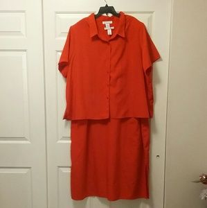 Roaman's Red Dress and Jacket Set Size 28W